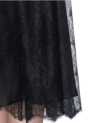 Detail View - Click To Enlarge - Valentino - Chantilly lace midi skirt