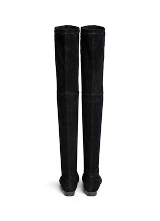 Back View - Click To Enlarge - CLERGERIE - 'Fetej' stretch suede thigh high boots