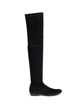 Main View - Click To Enlarge - CLERGERIE - 'Fetej' stretch suede thigh high boots