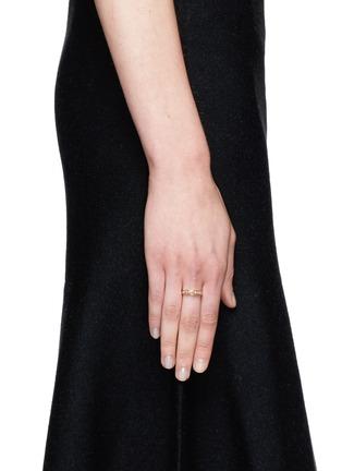 Figure View - Click To Enlarge - Pamela Love - 'Thin Tribal Spike' diamond pavé 18k gold ring