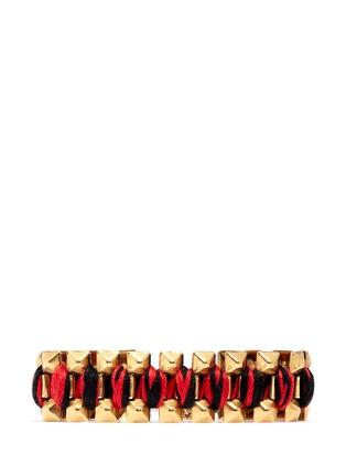 Main View - Click To Enlarge - ELA STONE - Rowina coloured thread stud bracelet