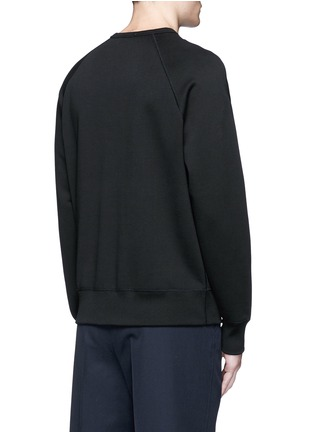 Back View - Click To Enlarge - ACNE STUDIOS - 'College Face' emoji patch cotton sweatshirt