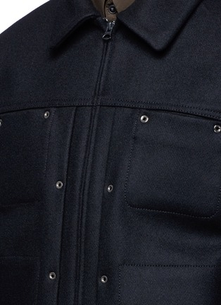 Detail View - Click To Enlarge - ACNE STUDIOS - 'Metal' eyelet wool blend melton shirt jacket