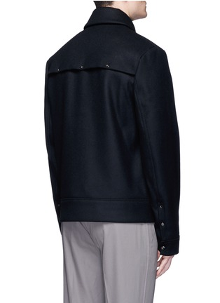 Back View - Click To Enlarge - ACNE STUDIOS - 'Metal' eyelet wool blend melton shirt jacket