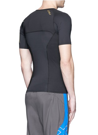 Back View - Click To Enlarge - 2Xu - 'Elite Compression' performance short sleeve top