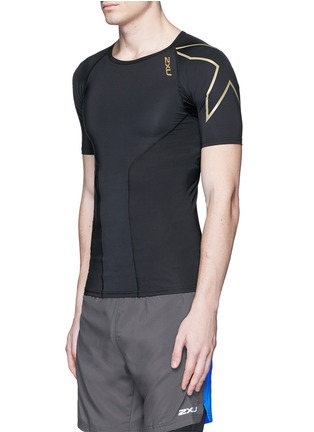 Front View - Click To Enlarge - 2Xu - 'Elite Compression' performance short sleeve top