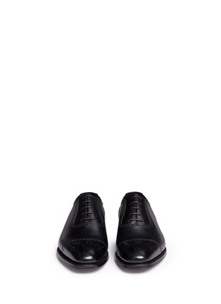 Front View - Click To Enlarge - George Cleverley - 'Adam' leather brogue Oxfords