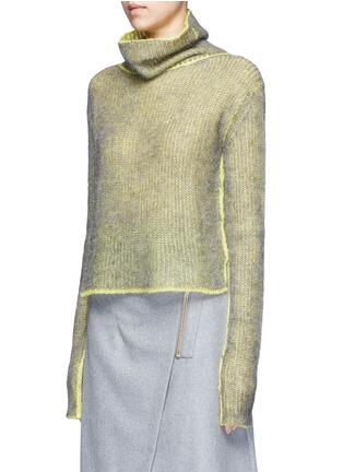 Front View - Click To Enlarge - Acne Studios - 'Vasya' mohair blend turtleneck sweater