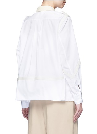 Back View - Click To Enlarge - SACAI - Side pleat webbing strap shirt