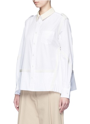 Front View - Click To Enlarge - SACAI - Side pleat webbing strap shirt