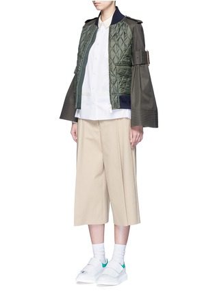 Figure View - Click To Enlarge - SACAI - Side pleat webbing strap shirt