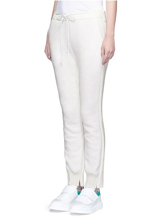 Front View - Click To Enlarge - Sacai - Wool-cashmere knit back jogging pants