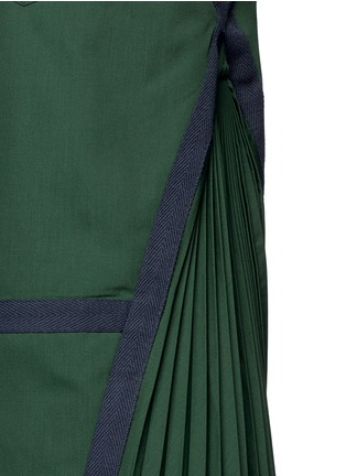 Detail View - Click To Enlarge - Sacai - Side pleat webbing strap shirt