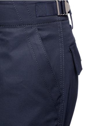 Detail View - Click To Enlarge - Sacai - Strap gabardine flared pants