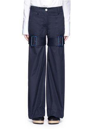 Main View - Click To Enlarge - Sacai - Strap gabardine flared pants