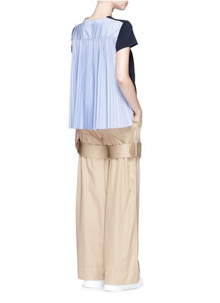 Figure View - Click To Enlarge - Sacai - Pleated colourblock back cotton T-shirt