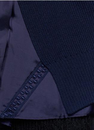 Detail View - Click To Enlarge - SACAI - Back split rib knit sweater