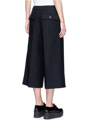 Back View - Click To Enlarge - Sacai - Grommet trim wool flannel culottes