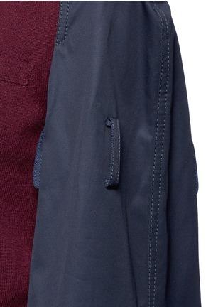 Detail View - Click To Enlarge - SACAI - Strap raglan sleeve wool top