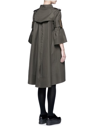 Back View - Click To Enlarge - Sacai - 'Runway' sleeve strap knit front top