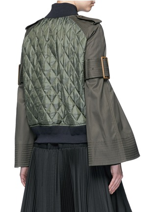 Back View - Click To Enlarge - Sacai - Sleeve strap quilted bomber jacket