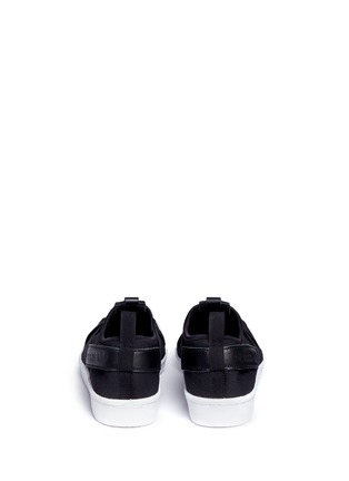 Back View - Click To Enlarge - Adidas - 'Superstar' crisscross band neoprene slip-ons