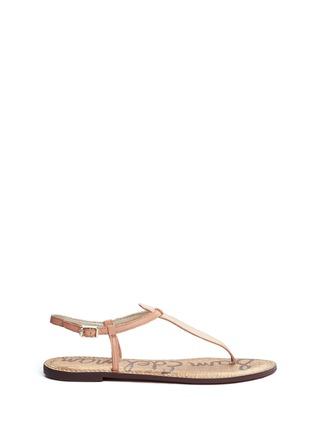 Main View - Click To Enlarge - Sam Edelman - 'Gigi' leather T-strap sandals