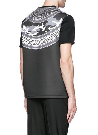 Back View - Click To Enlarge - Neil Barrett - Keffiyeh check camouflage print neoprene T-shirt