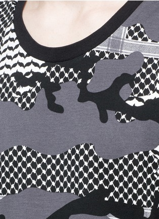 Detail View - Click To Enlarge - Neil Barrett - Keffiyeh check camouflage print tank top