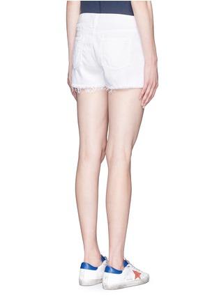 Back View - Click To Enlarge - rag & bone/JEAN - Cutoff cotton-tencel denim shorts