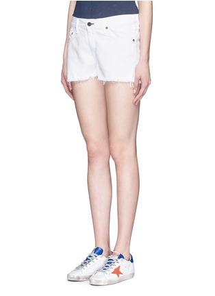 Front View - Click To Enlarge - rag & bone/JEAN - Cutoff cotton-tencel denim shorts