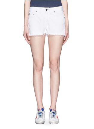 Main View - Click To Enlarge - rag & bone/JEAN - Cutoff cotton-tencel denim shorts