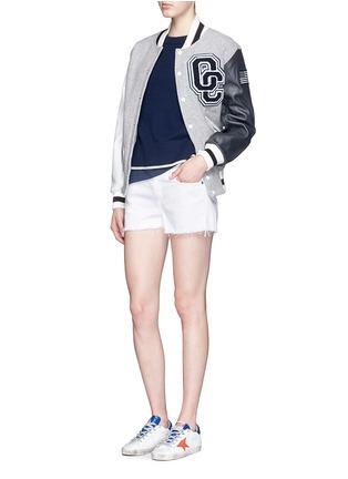Figure View - Click To Enlarge - rag & bone/JEAN - Cutoff cotton-tencel denim shorts