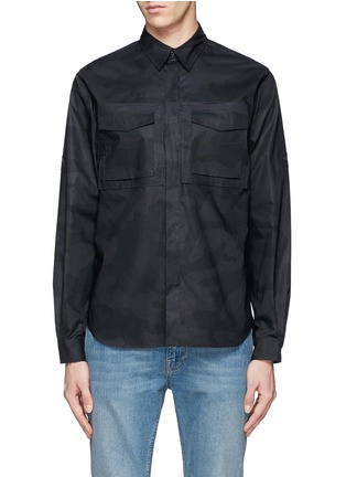 Main View - Click To Enlarge - Valentino - 'Camu Noir' print army shirt