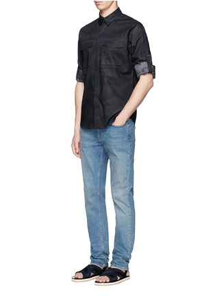 Figure View - Click To Enlarge - Valentino - 'Camu Noir' print army shirt