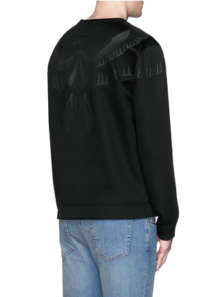 Back View - Click To Enlarge - VALENTINO - Hawk fused print scuba jersey top
