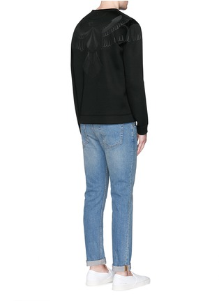 Figure View - Click To Enlarge - VALENTINO - Hawk fused print scuba jersey top