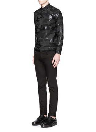 Figure View - Click To Enlarge - Valentino - Sealed camouflage print bonded jersey sweatshirt