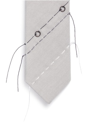Detail View - Click To Enlarge - Lanvin - Variegated stitch twill tie