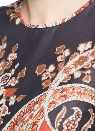 Detail View - Click To Enlarge - Isabel Marant Étoile - 'Severne' paisley print cotton voile top