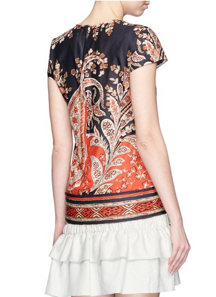 Back View - Click To Enlarge - Isabel Marant Étoile - 'Severne' paisley print cotton voile top