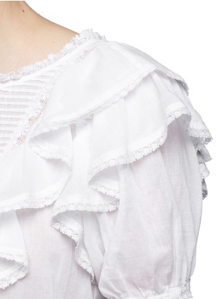 Detail View - Click To Enlarge - ISABEL MARANT ÉTOILE - 'Alice's Ruffles' cotton voile top