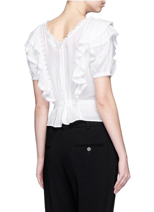 Back View - Click To Enlarge - ISABEL MARANT ÉTOILE - 'Alice's Ruffles' cotton voile top