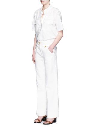 Figure View - Click To Enlarge - Isabel Marant Étoile - Cotton denim jeans