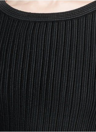 Detail View - Click To Enlarge - Alaïa - 'Libellule' frill mesh knit maxi dress