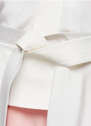 Detail View - Click To Enlarge - 3.1 PHILLIP LIM - Judo belt drape wrap top