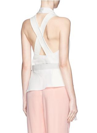 Back View - Click To Enlarge - 3.1 PHILLIP LIM - Judo belt drape wrap top