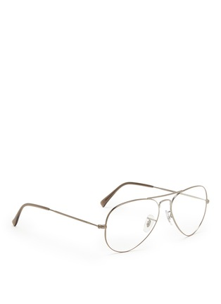Figure View - Click To Enlarge - Ray-Ban - Wire rim aviator optical glasses