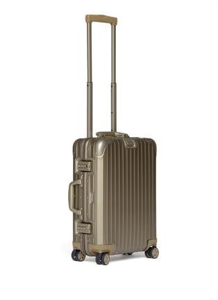 Side View - Click To Enlarge - RIMOWA - Topas Titanium Cabin Multiwheel® IATA (Titanium, 32-litre)