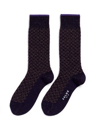 Main View - Click To Enlarge - FALKE - 'Bed Rock' knit check socks